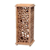 Eco Friendly Decorative Carved Rectangle Carbonized Bamboo Wine Box