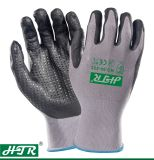 Anti-Abrasion Oil-Proof Knitted Safety Work Gloves with Nitrile Coating