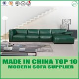 Modern Style Living Room Corner Wooden Leather Sofa