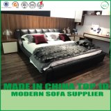 Modern Wood Leather Bed for Bedroom Use