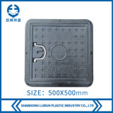 500X500mm FRP/GRP Composite Square Manhole Cover with Pull Rings