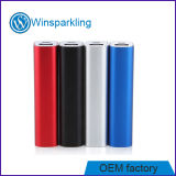 Round Lipstick Metal Charger Portable Power Bank 2000mAh
