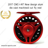 Wholesale New Design Light Weight Alum Die Cast CNC Machined Cut Classic Trout Fly Reel 02A-CNC-I-Nt