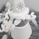 Christmas Fabric Doll Artificial Christmas Decoration Ornament Craft for Holiday Wedding Party Supplies Gifts