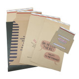 Customized Document Mailers Stay Flat Kraft Cardboard Self Seal Rigid Photo Mailer Envelopes