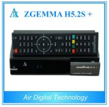 France/Itlay/German Multistream Channels Decoder Zgemma H5.2s Plus Dual Core Sat/Cable Box DVB-S2+S2s/T2/C Triple Tuners