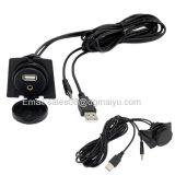 2 Meter USB Cable & 3.5mm Aux Extension Flush Mount 1/8 Aux Car Bike Boat Motercycle Lead