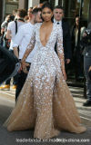 Lace Prom Party Gowns Champagne Celebrity Evening Dresses A3001