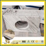 River White Granite Stone Countertop for Hotel Bathroom, Kitchen Design
