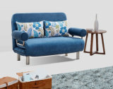 Love Seater Three Folded Fabric Sofabed with Metal Frame