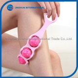 Beauty Equipment Pink Color Cute Mini Body Massager Plastic Foot Massager Roller