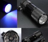 9 LED UV Flashlight Torch for Hygiene Checks and Detecting Pet Urine