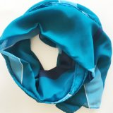 Fashion Polyester Chiffon Screen Print Scarf Wholesale Silk Feeling Square Scarf Women (SC019)
