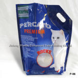 Cat Litter Bag with Bottom Gusset and Handle Hole