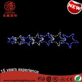 LED Seven Star Twinking Blue Rope Motif Light Christmas Decoration for Lighting outdoor