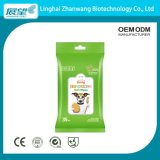 Zhang Wang Manufacturer Discount Price OEM Logo Package Pet Care Soft Material Pet Wipes 100PCS/Bag Outdoor Use