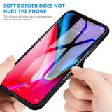 Wireless Charging Tempered Glass Cover Tough Protector TPU Phone Case for iPhone X 10