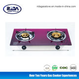 Bangladesh Market Hot Sale Glass Top Double Burner Gas Stove
