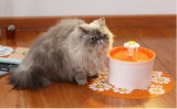Cat and Dog Water Fountain Pet Waterer Dispenser Water Feeder Orange