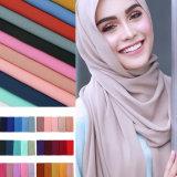 Low MOQ Factory Cheap Muslim Fashion Pure Color Dubai Hijab Scarf