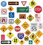 Manufactured Price Plastic Road Traffic Sign and Symbols Reflective Aluminum Traffic Control Warning Road Sign Board
