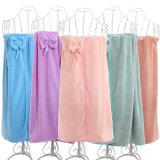 100% High Quality Microfiber Cheap Summer Suspender Bowknot Sexy Bathrobe for Women