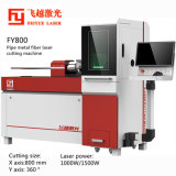 Fy800 Feiyue Pipe Fiber Laser Cutter Machines Linear Guide THK CNC Precision Stainless Steel Aluminum Copper Tube Bar Rod Metal Laser Cutting Machine
