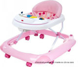 Push Bar Design New Model Baby Walker, Softextile Baby Walker with Soft Cushion