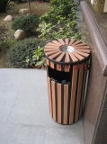 Wood Plastic Composite Dustbin with CE, Fsc, SGS, Certificate