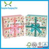Custom Paper Gift Box Packaging with Ribbon