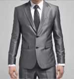 Top-Quality 2-Button Sliver Wrinkle-Free Men′s Fashion Business Dress Suit (LJ-1042)