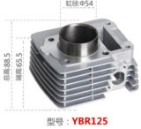 Ybr125 Motorcycle Cylinder for Motorcycl YAMAHA Bore Size 54mm