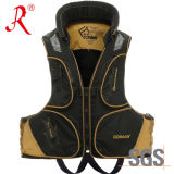 Waterproof Flotation Fishing Tackle Safety Vest (QF-1914 Golden)