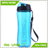 Leak Proof Wide Mouth Plastic Sports Water Bottle with Handle