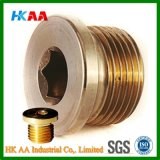 Inch Socket Round Head Brass Parallel Pipe Plugs (DIN908G)