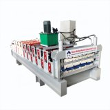 Steel Profile High Rib Automatic Roof Panel & Roof Q Tile Roll Forming Machine Automatic Cutting