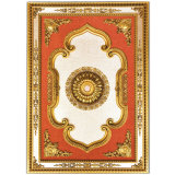 Banruo Red Rectangular Ceiling Medallion for Chandeliers