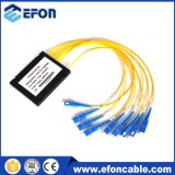 FTTH Mini Low Insertion 1*8 PLC Splitter with Cassette Packing