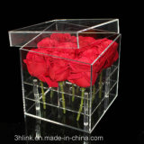 Lucite Plexiglas Box with Lid for Flowers
