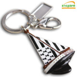Wholesale Souvenirs Gift Carnival Sublimation Blanks Custom Metal 3D Keychain