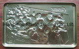 Embossed Tinplate Metal Tin Can Box
