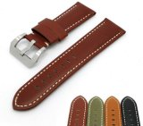 22mm 24mm 26mm Handmade Genuine Cow Leather Watch Band Watch Strap 4 Colors Available