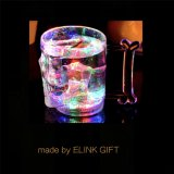 16oz 450ml Skull Skeleton Shape Plastic LED Light up Flashing Cocktail Cup Whiskey Cup Diamond Rock Cup
