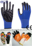 Nitrile Coated Labour Protective Industrial Working Safety Gloves