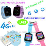 4G/WiFi Sos Button Smart GPS Tracker Watch for Kids Safety D48