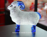 Lovely Crystal Glass Animal Crystal Sheep Craft for Home Decoration