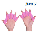Silicone Webbed Hand Fins Flippers Swimming Finger Gloves