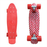 22inch PP Mini Skateboard Cruiser Complete Skateboards Banana Skateboard Red DOT Design-22