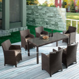 Top Quality Selling Woven Aluminum Outdoor Garden Furniture Dining Chair & Table by 6-10person (YTA020-1&YTD020-4)