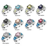 Colour Crystal Zircon 925 Sterling Silver Jewelry Wholesale Retail Ring